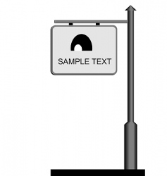 Street notice board vector