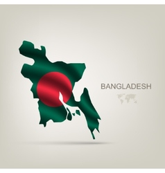 Flag of bangladesh as a country vector