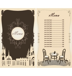 Menu old town vector