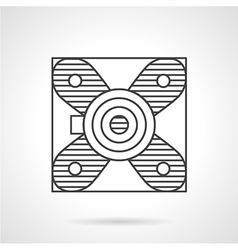 Block bearing flat line icon vector