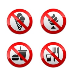 Set prohibited signs - foods vector