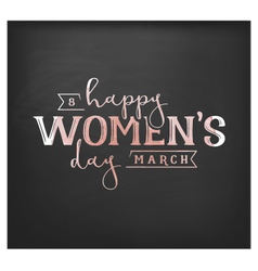 Happy womens day design element for greeting cards vector