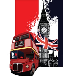 london poster vector image