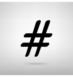 Hashtag sign vector image