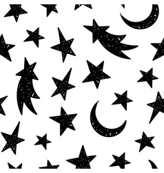 Cosmic seamless grunge pattern vector