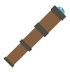 Antique telescope icon isolated vector