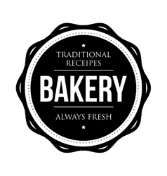 Bakery vintage badge vector image