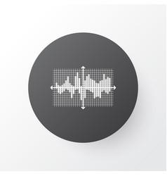 Bar wave icon symbol premium quality isolated vector