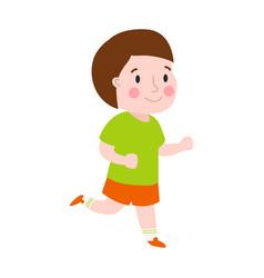 Beautiful cartoon boy running fashion look male vector