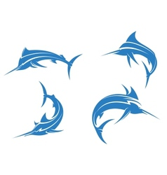 Big blue marlins vector image vector image