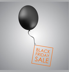 Black balloon on grey background with inscription vector