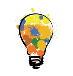 bulb with paint vector image