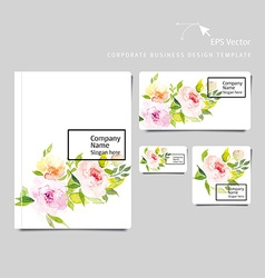 Corporate business template vector image