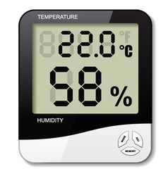 Digital thermometer hygrometer humidity icon vector
