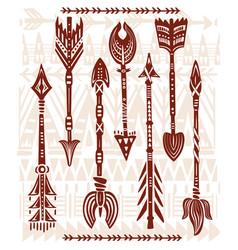 Ethnic tribal arrows vector