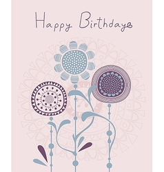 Floral Birthday Background vector image vector image
