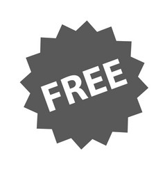 free sign icon simple vector image