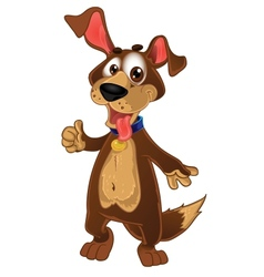 Fun dog show all is ok vector