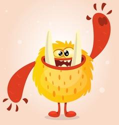Happy orange monster Halloween vector image