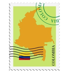 mail to-from Colombia vector image