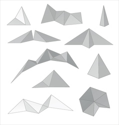 Mountain gray abstract set vector