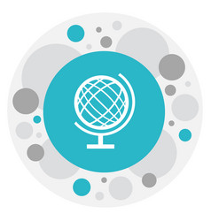 of education symbol on sphere vector image vector image
