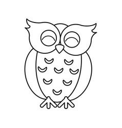 Owl lovely valentine animal line vector