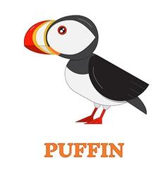 Puffin Sea Bird Icon vector image vector image