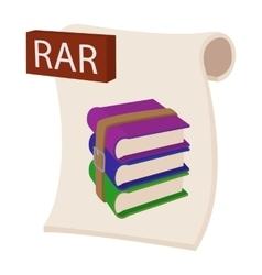 Rar file icon cartoon style vector