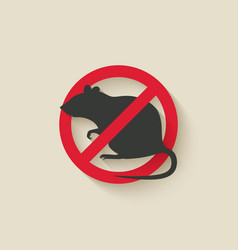 rat warning sign vector image