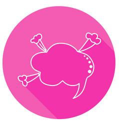 round speech bubbles vector image vector image