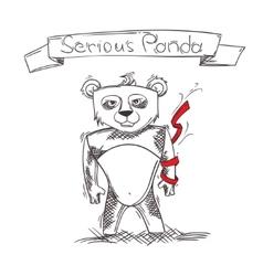 Serious Panda vector image vector image