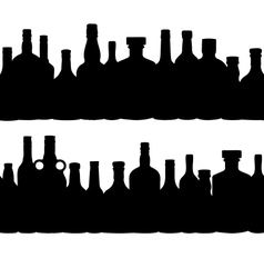 silhouette alcohol bottle seamless pattern vector image vector image