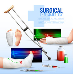 Surgical traumatology concept vector