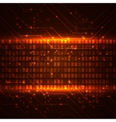 Technology background with circuit boards elements vector image