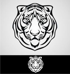 Tiger Face vector image vector image