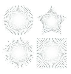 vintage sunburst starburst abstract retro sunshine vector image vector image