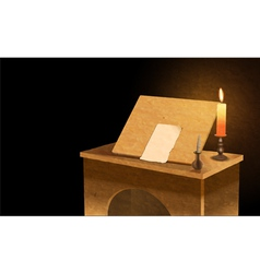 notary desk vector image