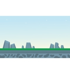 Rock and grass backgrounds game vector