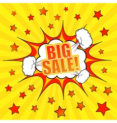 Big sale comic banner template vector