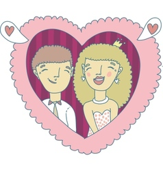 Love couple hand-drawn vector image