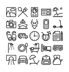 Summer and travel icons 9 vector