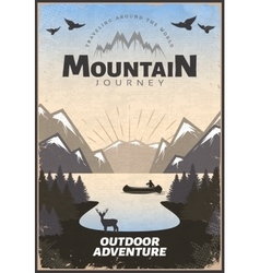 Mountain Travel Poster vector image