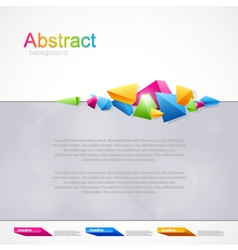 Background with geometrical abstraction vector image
