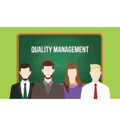 Quality management concept in a team vector