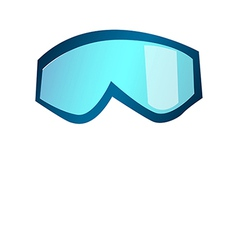A view of a goggles vector