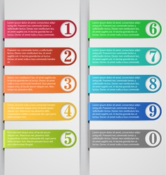 Modern number list infographic banner vector