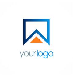 Square home logo vector