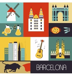 Symbols of barcelona vector