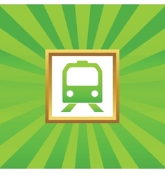 Train picture icon vector